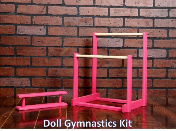 Gymnastics Bars And Balance Beam Quot Diy Quot Kit For 18 Quot Doll