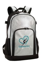 Gymnastics Backpack in Silver Sparkle