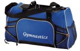 Royal Blue Gym Bag with Embroidered Logo