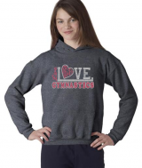 Heather Grey Gymnastics Hoodie w/ Neon Pink Logo