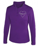 Stunning Pullover Jacket with Rhinestone Logo-Quarter Zip