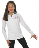 White Gymnast Jacket with Heart Logo