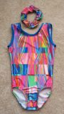 Gymnastics Leotards in Colorful Abstract Design