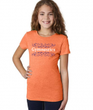 'Gymnastics' T-Shirt in Neon Orange with Royal/White Design