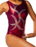 Gymnastics Leotards in Maroon with Lovely Silver Sequins