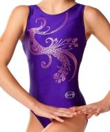 Purple Gymnastics Leotards w/ Beautiful Hot Pink Motif
