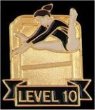 Custom Gymnastics Lapel Pin-'Level 10'