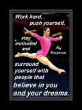 Inspirational Gymnastics Poster of Aly Raisman