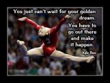 Motivational  Gymnastics Poster of Kyla Ross