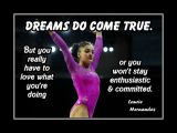 Motivational Poster of Olympic Gymnast Laurie Hernandez