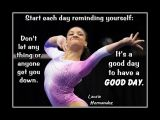 Inspirational Poster of Olympic Gymnast Laurie Hernandez