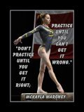 Inspirational Gymnastics Poster of McKayla Maroney