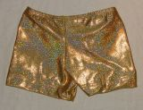 Gold Twinkle Gymnastics Shorts