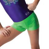 Hot Green Sparkle Gymnastics Boy Shorts