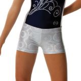 White Gymnastics Bullseye Boy Shorts