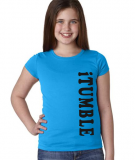 Gymnastics T-Shirt - iTUMBLE - in Turquoise