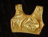 Sports Bra In Gold Twinkle