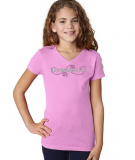 Gymnastics T-Shirt in Lilac with Rhinestone & Glitter Logo