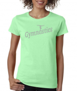 Gymnastics T-Shirt with Cool Rhinestone Design