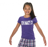 Purple Gymnastics T-Shirt with Cool Design
