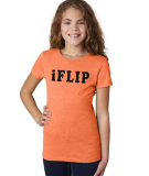 Gymnastics T-Shirt - iFLIP - in Neon Orange