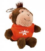 Mini Stuffed Animals - Monkey Keychain